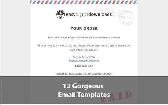 easy digital downloads email templates woothemes plugins