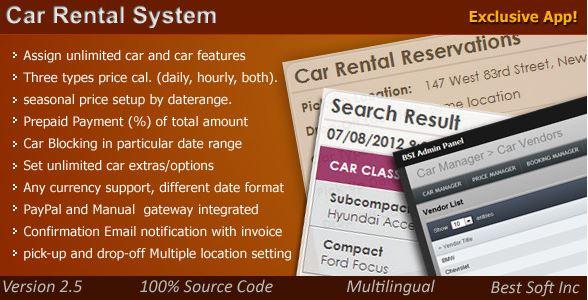 Woocommerce Car Rental Plugin